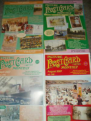 Picture Postcard Monthly 4 Issues 2007/2008
