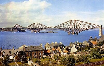 The Forth Bridge: view from South Queensferry of the bridge.