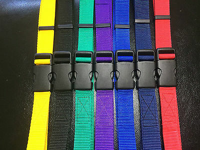 "25mm Adjustable Webbing Belt (1"") any colour High Quality Quick Release"