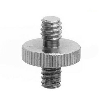 """1PC 1/4"""" Male to 1/4"""" Male Threaded Metal Screw Adapter For Camera Tripod Stand"""