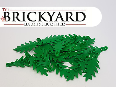 16 X Lego 8X3 Small Palm Tree Leaf 6148 Green Pieces 1D13