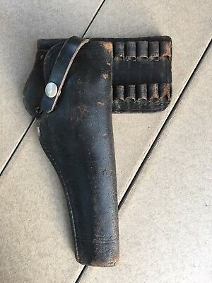 Antique Police Holster and Cartridge Carrier Smith & Wesson K Frame Colt 6 Inch