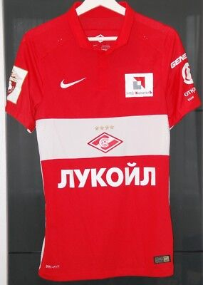 Spartak Moscow (Russia) Match Worn  Shirt Season 2015-16 Netherlands Promes