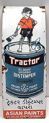 Vintage Sign Antique Sign Board Old Advertisement Tractor Distemper Asian Paint#