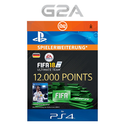 FIFA 18 Ultimate Team - 12000 FUT Points [PS4] Playstation Network PSN Code DE