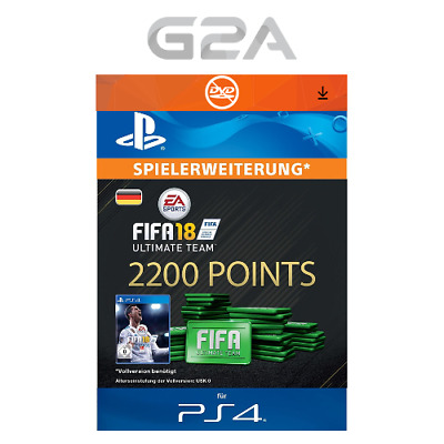 FIFA 18 Ultimate Team - 2200 FUT Points [PS4] Playstation Network PSN Code DE