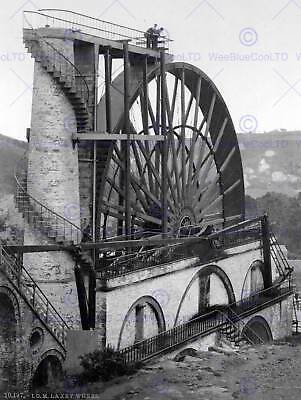 Isle Of Man Laxey The Wheel England Old Bw Photo Print Poster 1024Bwb