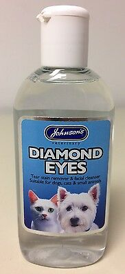 Johnson's Veterinary Diamond Eyes Care For Cats And Dogs 125ml