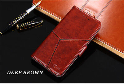 Brown Handmade Luxury  Leather Flip Case Cover For OnePlus 5 / One Plus Five