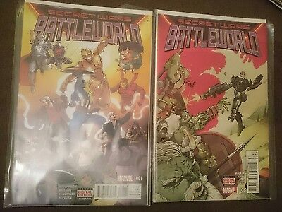 secret wars battleworld #1&2 first prints
