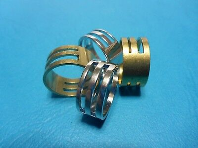 2 Metal Ring Thimbles Jewellery Making DIY Tool 2 Sizes Slits Silver Gold Craft