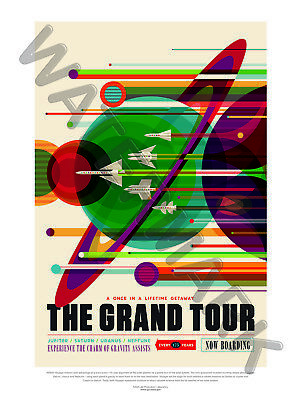 Nasa Poster Space Exploration Travel Advert Grand Tour Art Print Hp3828
