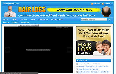 Great Hair Loss Treatment Store Website Free Installation + Free Hosting