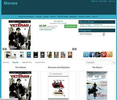 Movie Store Amazon Affiliate Website Unlimited Earning Free Hositng+Installation