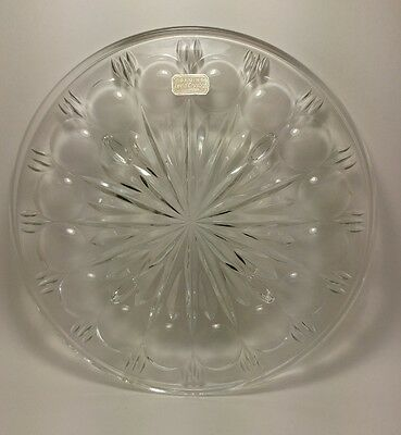 Absolutely Stunning Genuine Lead Crystal Serving Table Tray For The Dinner Table