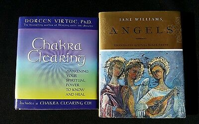 Chakra Clearing & Angels Books by Doreen Virtue and Jane Williams Hardcovers