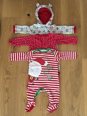 Xmas Sleepsuits 3-6 Months
