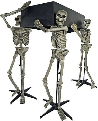 5' Skeleton Pall Bearers With Coffin Halloween Decoration