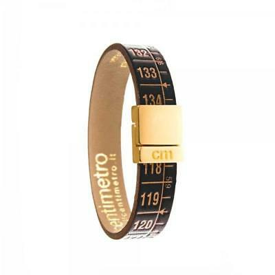 IL CENTIMETRO Bracciale Uomo Donna Little Royal Gold C5002B pelle soft touch M
