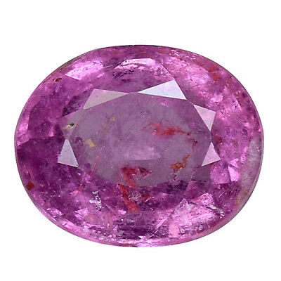 1.580 CTS marvelous luster pink natural sapphire oval loose gemstoens see video