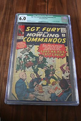 Sgt. Fury & His Howling Commandos # 4 - CGC Qualified 6.0 FN Cream/OW Pgs - 1964