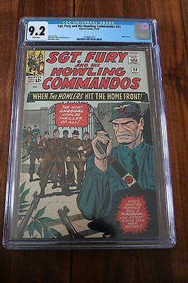 Sgt. Fury & His Howling Commandos # 24 - CGC 9.2 NM- White Pgs - 1965