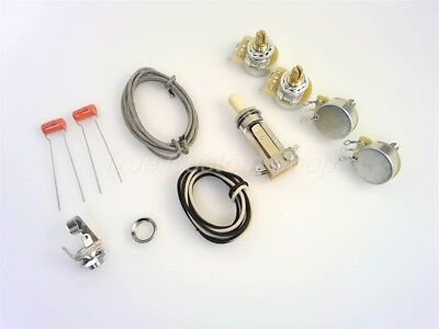 True Custom Shop®Short CTS Pot & Switchcraft Jack Wiring Kit for Gibson Les Paul