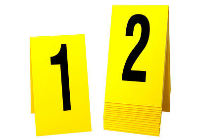 Large Crime Scene Markers 1-15, 8 sets, Yellow Plastic, Free Shipping