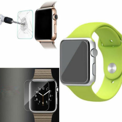 Clear Tempered Glass Full Protect New Slim Watch Screen Protector Apple 38/42mm