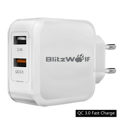 Dual USB Wall Charger For Cell Phones Fast Quick Charge 3.0 Outlet Adapter EU AU