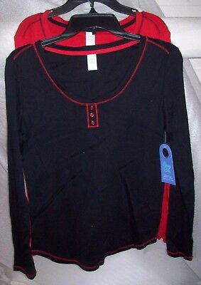 Womens Sleep Chick Long Sleeve Sleep Top Multiple Colors/Sizes New With Tags