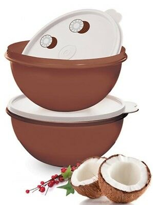 Tupperware Wonderlier Bowl Set 2 Coconut - Free Fast Shipping - 7 Cup Capacity