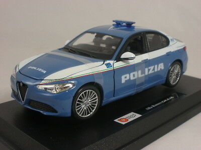 BBurago Alfa Romeo Giulia Polizia 2016 Security Team 1:24 Die Cast Mod.Da Collez