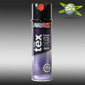 PRO XL TEX 500ml TEXTURED BLACK AEROSOL BUMPER PAINT RATTLE CAN SPRAY PAINT