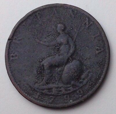 Dated : 1799 - Copper - Half Penny - Coin - King George III - Great Britain