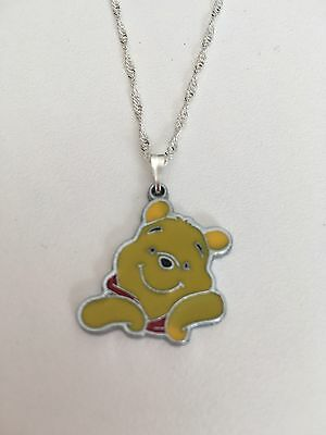 Winnie The Pooh Pooh Bear Child's Necklace Purple