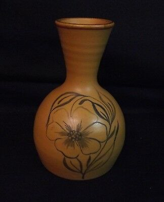 Purbeck Pottery Vase. Vitreous Stoneware with Early Label 1960's Era. 5.5 Inches
