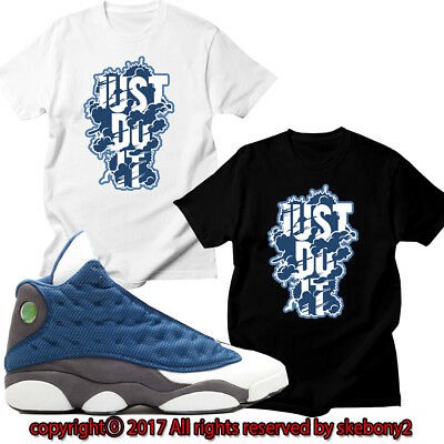 dd21585bcb87 NEW CUSTOM T SHIRT AIR JORDAN 13 RETRO FLINT 2010 RELEASE matching JD 13-3