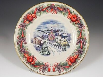 2000 Lenox Holiday Annual Limited Ed Villages Around the World NEW ENGLAND Plate