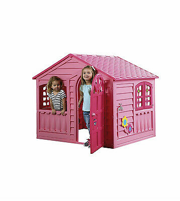 COLLECTION ONLY CW7 kids age 3+ LARGE PLASTIC PINK WENDY HOUSE GARDEN playhouse