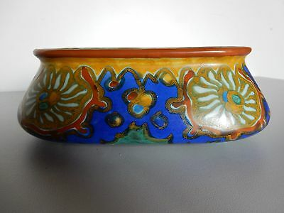 Early Gouda Planter, Bowl, oblong with typical decoration marked to base, see ph