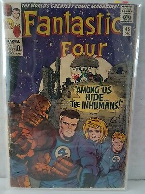Fantastic Four #45 VG 1st Inhumans