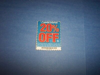 Two Harbor Freight Coupons 20% off Any One Item Exp 1/2018 Fast Delivery