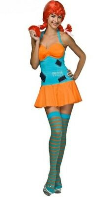 Halloween Cosplay Costume Womens S Cute Sexy Pippi Long Stocking Mystery House