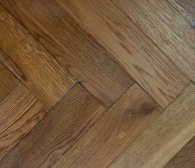 Parquet Easy Click Loc Smoked Oak 14mm x 150mm Brushed & UV Oiled Wood Flooring