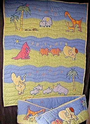 Carters John Lennon Baby Quilt 2pc Set Musical Parade Appliqued Embro w BumperPd