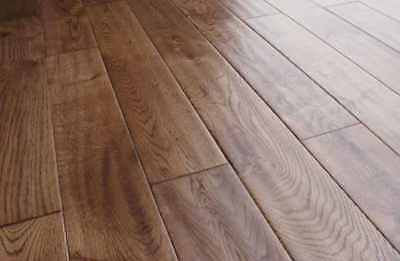 Engineered Oak 14mm x 125mm Handscraped Matte Lacquered Wood Flooring
