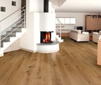 Engineered Oak 20mm x 190mm Brushed and Oiled Wood Flooring