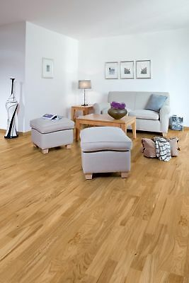 Solid Natural Oak Two Strip Finger Jointed 12mm x 150mm Oiled Wood Flooring