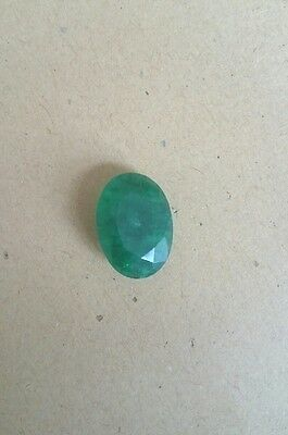 8.10 Ct. Natural Translucent Oval Colombian Emerald Gemstone. W-30
